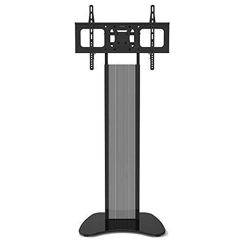 Acero Inoxidable Mueble de TV para Pantallas de 32-60 Pulgadas,Negro TV Stand Admite hasta 68KG Ajustable en Altura, MAX VESA 600x400mm