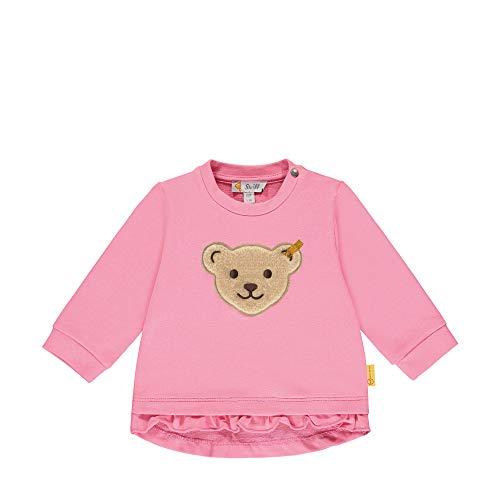 Steiff Baby-Mädchen Sweatshirt, Rosa (Pink Carnation 3019), 56 (Herstellergröße: 056)