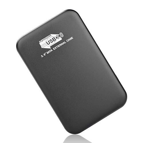Externe Festplatte, Externe Festplatte 2tb USB3.0 Festplatte Extern für Mac, MacBook, PC, Xbox One, Xbox 360, Desktop, Chromebook, Laptop (2tb, schwarz)
