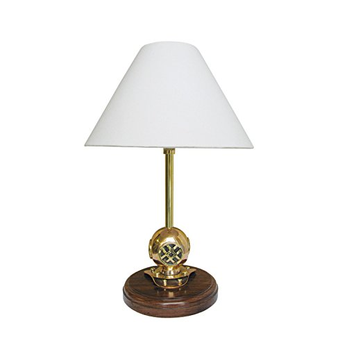 Lampe - Taucherhelm Holz & Messing - perfekt für die maritime Dekoration