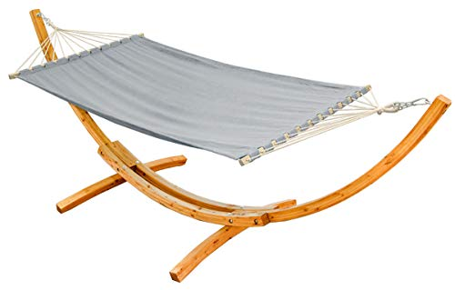 Amanka XXL Hammock for Two with Wooden Designer Frame
