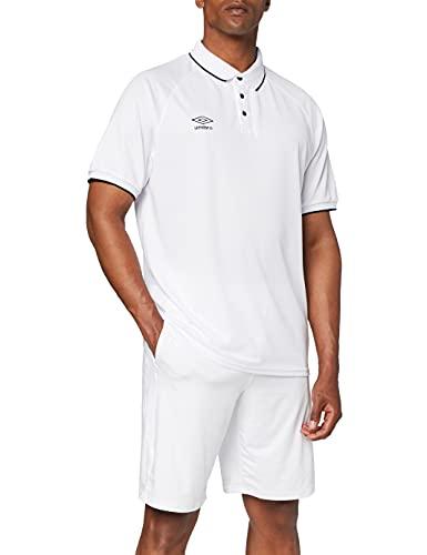 Umbro Torch–Maglietta Polo per Uomo, Uomo, Torch, Bianco, XL