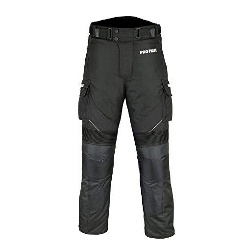 mujeres Profirst Global Motocicleta//Moto Big Pocket Impermeable Pantal/ón de pantal/ón textil Cordura extra/íble para hombres ni/ños gris XL