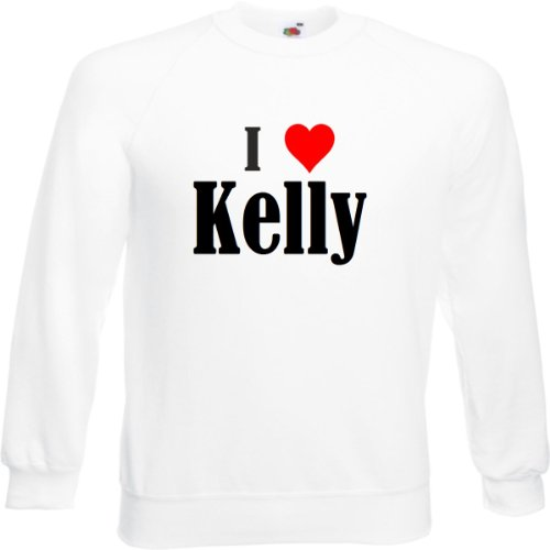 Reifen-Markt Sweatshirt I Love Kelly Größe 2XL Farbe Weiss Druck Schwarz