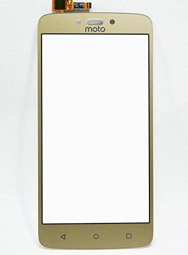 K4SS Touch Screen Digitizer Glass for Motorola Moto C+ (Moto C Plus) - Colour (Gold) (NO Display ONLY Touch Screen Please Check Properly Before Order)