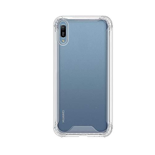 TBOC Funda para Huawei Y6 [2019] [6.09'] Carcasa [Transparente] Protección Extrema a Caídas [Antigolpes] Bumper [Bordes Reforzados] Resistente [Protege la Cámara] Móvil