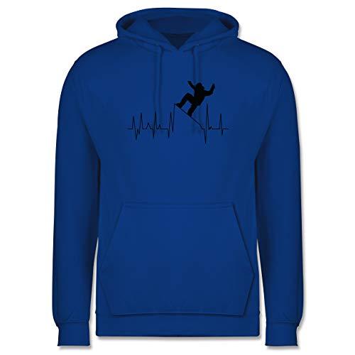Shirtracer Après Ski - Snowboarding Herzschlag - schwarz - M - Royalblau - Herzschlag - JH001 - Herren Hoodie und Kapuzenpullover für Männer