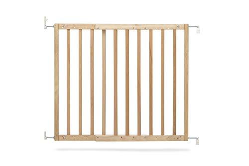 Geuther 2700 NA Tür und -Treppenschutzgitter Modilok aus Holz, 2700, Natur, zum Schrauben, Barrierefrei, Passend für 63 - 103 cm, braun, 3.05 kg