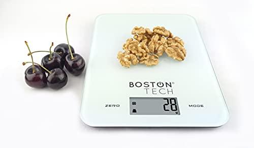 Báscula de Cocina Digital Balanza de Precisión para alimentos, Bascula de Joyería Pantalla LCD Retro iluminada, Capacidad 10kg /22lbs Función de TARA y ZERO Auto apagado Incluye baterías Model