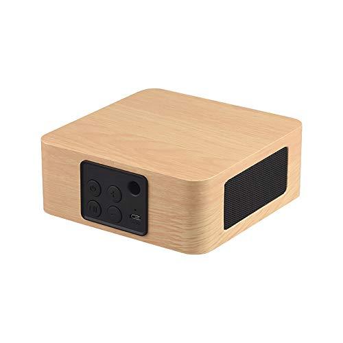 Bluetooth Funklautsprecher, Retro Bluetooth Funklautsprecher Mini Tragbar Holz Retro 3D Dual Lautsprecher Surround Geeignet Für Die Erholung Im Freien Indoor,Beige