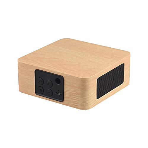 Bluetooth Funklautsprecher, Retro Bluetooth Funklautsprecher Mini Tragbar Holz Retro 3D Dual Lautsprecher Surround Geeignet Für Die Erholung Im Freien Indoor,Beige