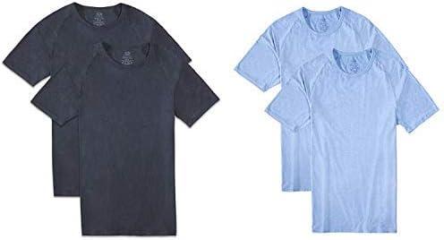 Fruit of the Loom Men's Everlight Modal Raglan Crew T-Shirt