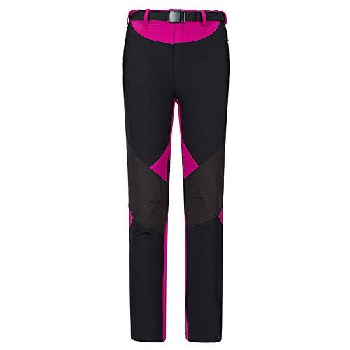 LY4U Frauen Schnelltrocknende Wanderhose Wasserbeständige leichte, Dehnbare, atmungsaktive Outdoor-Sportarten Klettern, Gehen, Radhosen mit Reißverschlusstaschen