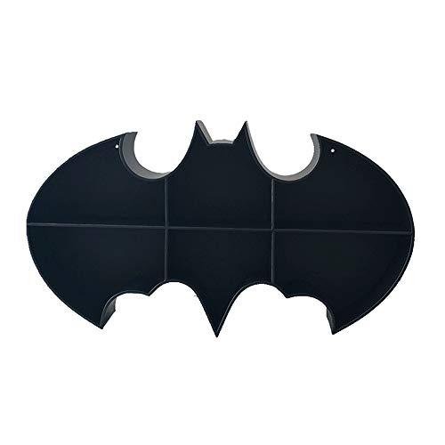 Xiuhua Etagère murale, étagère murale Batman en fer forgé, animaux simple personnalité décorations d'intérieur (Color : Black)