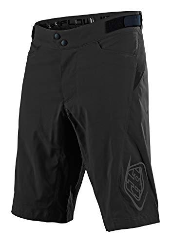 Troy Lee Designs Flowline - Pantalones cortos para bicicleta para hombre, color negro