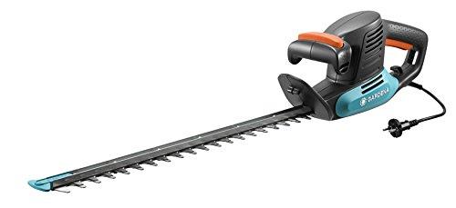 Tijeras cortasetos eléctricas EasyCut 450/50 de GARDENA: tijeras eléctricas para setos, 450 W, cuchilla de 50 cm de longitud, separación entre dientes de 18mm, protector contra impactos (9831-20)