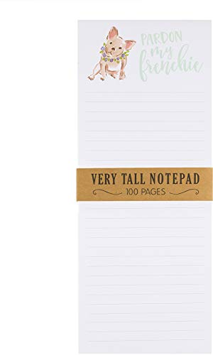 Eccolo World Traveler Very Tall Magnet Notepad Pardon My Frenchie 4x10