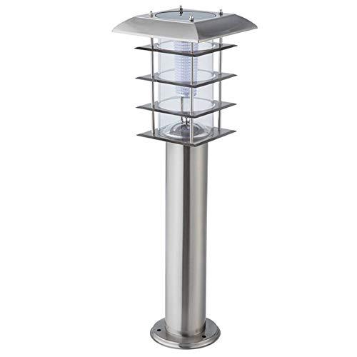Lampada Da Terra Solare, Lampada Da Giardino Impermeabile Per Esterni, Lampada Da Cortile A LED, Lampada Da Giardino In Acciaio Inossidabile Con Decorazione Paesaggistica, Altezza 60 Cm, Argento