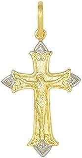 pingente cruz com detalhes na borda com cristo