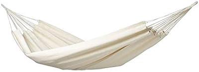 Amazonas AZ-1018140 hamac natura Barbade, capacité de charge 200kg, blanc (Natura), zone de couchage 230 x 150cm, taille unique