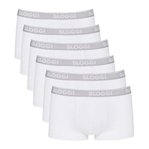 Sloggi Go ABC Hipster Boxer a Pantaloncino, Bianco (0003), M (Pacco da 6) Uomo