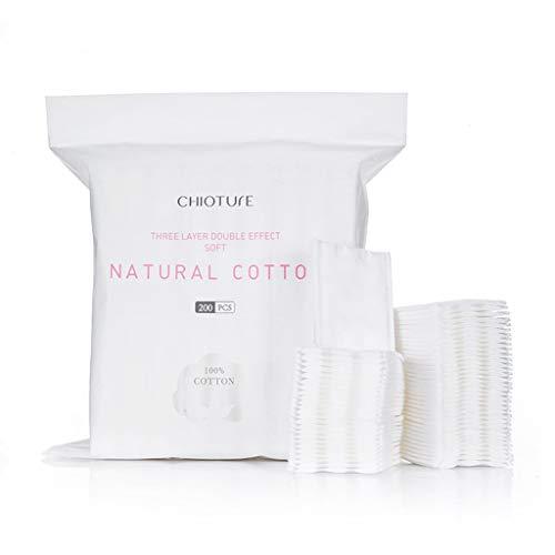 Coussinets Maquillage 200 pièces de Coton léger Tampon de Coton à Trois épaisseurs Serviette nettoyante hydratante Outil Nettoyage Visage (Color : White)