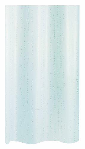 Spirella Wet douchegordijn met pareleffect, textiel/polyester, 180 x 200 cm, wit/blauw
