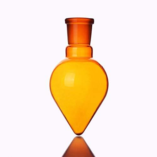LUHUAPING Brown forma de pera frasco, 25 ml de capacidad, conjunta 14/20, en forma de corazón de Brown Frascos, marrón grueso en forma de corazón de molienda Botellas