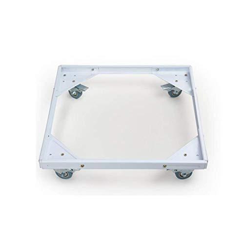 ZEQUAN Waschmaschinensockel, Edelstahl, verstellbar, bewegliche Grundlast 500 kg, for Trockner, Waschmaschine und Kühlschrank, Metallic (Color : White)