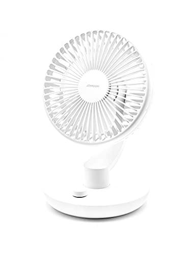 USB Desk Fan - Quiet Portable Fan is a Perfect Desk Fan, Mini Fan Design is Silent but Powerful, Variable Speed Adjustment provides Best Fan Cooling as a Personal Fan for Home, Office, RV by Grapperz (White)