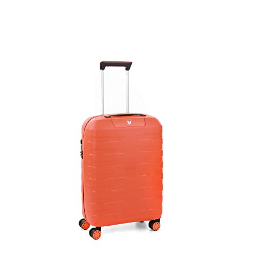 Roncato Box Young Maleta Cabina avión Papaya, Medida: 55 x 40 x 20 cm, Capacidad: 41 l, Pesas: 2.20 kg, Maleta Cabina avión ryanair