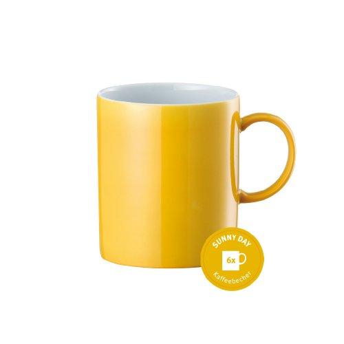 Taza divertida para desayunos color amarillo