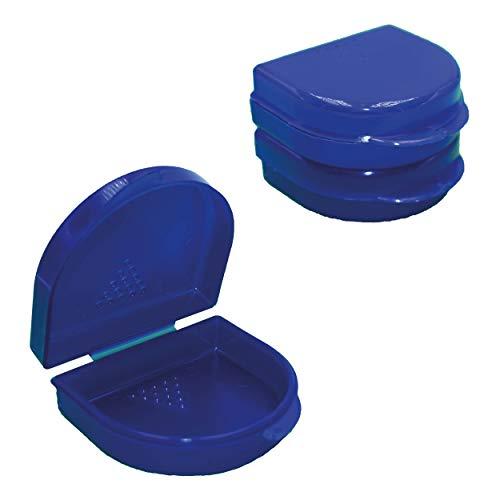 Zahn-Spangendose (3erPack) Knirscherschiene-Box Prothesendose | Hochwertige Zahnspangenbox zur hygienischen Aufbewahrung für Kinder & Erwachsene |auch als Aufbissschiene Boxen & Prothesenbox geeignet