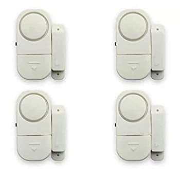 4 Pack Door Window Alarm Home Personal Security Wireless Sensor Burglar Wireless Alarm for Kids Safety Office,Home Security Protection