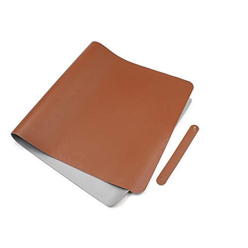 CHYSJ Estera de Escritorio de Cuero PU de la computadora portátil, Protector Impermeable de impermeabilidad de impermeabilidad 40x80cm impresionero Impermeable Estera de i C
