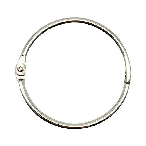 Details about  /Shapenty 15mm//0.6 Inch Mini Metal Scrapbooking Book Loose Leaf Binder Ring Tone
