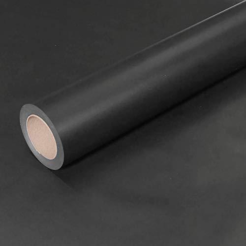 JUNOPAX 43710156 Geschenkpapier 50m x 0,75m schwarz