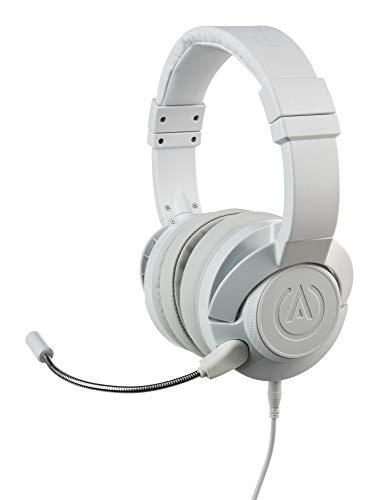 PowerA Fusion Auriculares Gaming con Micrófono Desmontable y Cable - Compatibles con PlayStation 4, Xbox (One, One X, One S, 360), Nintendo Switch, Mac, Android, IOS - Blanco