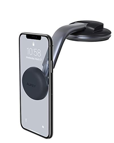 AUKEY Support Téléphone VoitureMagnétique Rotation à 360 Degrés Tableau de Bord Support Voiture