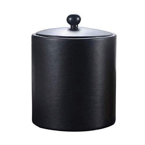YILIAN Cubo de Hielo Cubo de Hielo de Acero Inoxidable Cubo de Hielo Caja de Cuero de Oro Cubo de Hielo Negro con Filtro Ice Partition Ice Town (Color : A)