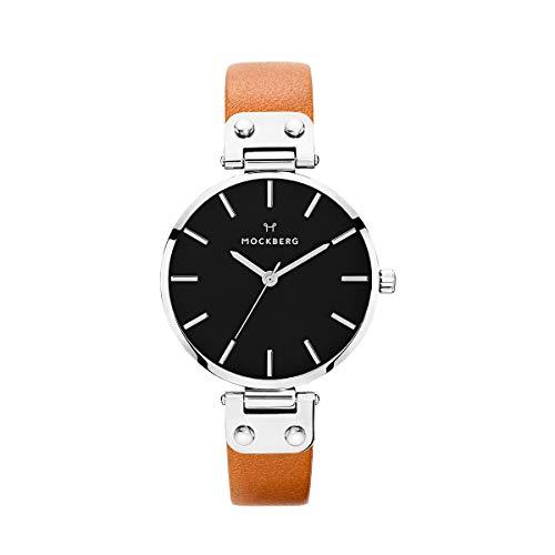 Mockberg Damen Analog Quarz Smart Watch Armbanduhr mit Leder Armband MO112