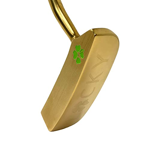 Lucky Golf Gold Putter Material: 431 Stainless Steel Casting: Loft: 3.5 Degrees - Lie: 72 Degrees - Finished Weight: 385 Grams - Length: 35 inches