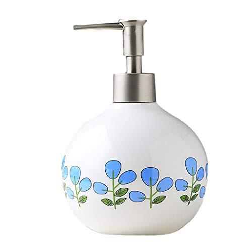 Distributeur de Savon 550 ML en céramique créatif Distributeur de Savon Manuel Savon Douche Gel ménage ménage Salle de Bain shampooing Distributeur de Savon (Color : G)