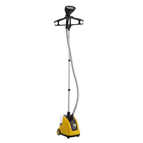 HOMCOM Stiratrice a Vapore Verticale Domestica Professionale 1.4L Potenza 1800W
