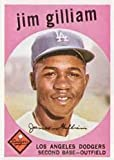 1959 Topps Regular (Baseball) Card# 306 jim gilliam of the Los Angeles Dodgers VG Condition