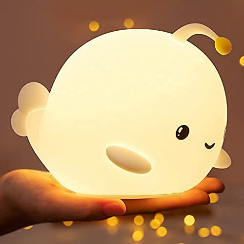 Cute Night Light for Kids, Baby Night Light for Nursery Toddler, 7 Color Changing Squishy Silicone...