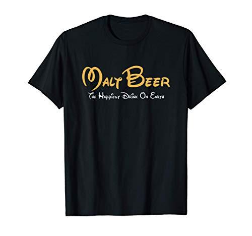 Malt Beer Shirt, Happiest Drink on Earth Fun Cerveza Parodia Camiseta