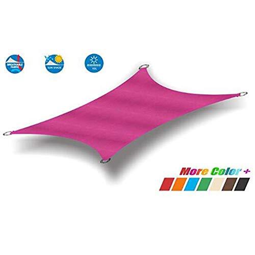 JIANFEI-Rain - Sombrilla para la lluvia, tela triangular, toldo para playa, resistente al desgarro, 22 tamaños, 2 colores, compatible con personalización, polietileno, Rosa, 6.5x6.2m