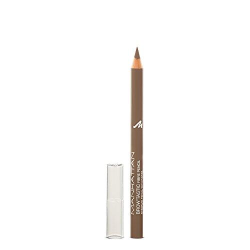 Manhattan Brow'Tastic Augenbrauenstift – Hellbrauner Eyebrow Pencil mit auffüllenden Fasern für dichter wirkende, definierte Augenbrauen – Farbe Light 001 – 1 x 1,1g
