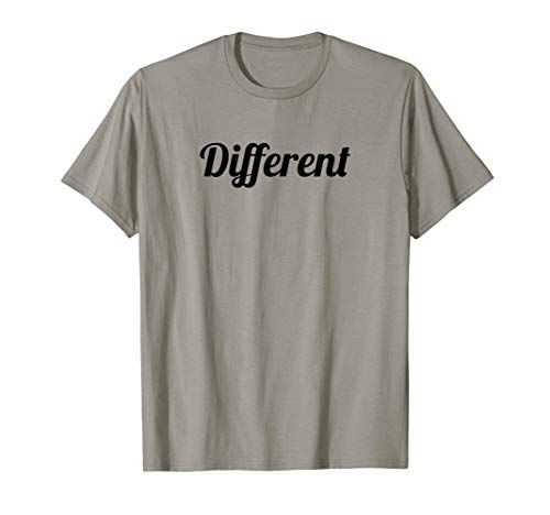 T-Shirt that says the Word - Different - on it | Gift